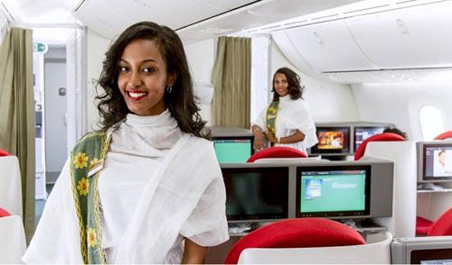 Ethiopian Airlines ab Wien: Kabinen-Service